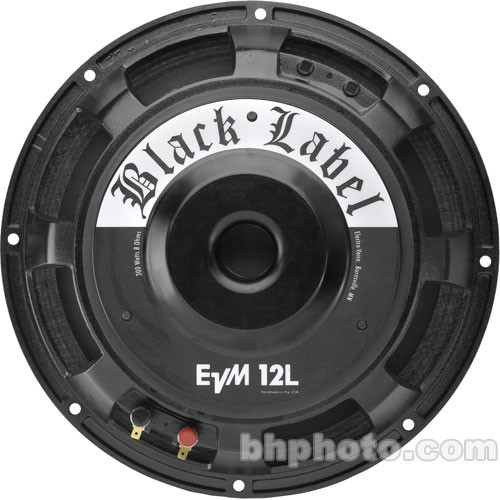 "Electro-Voice EVM12L Black Label - Zakk Wylde Signature 12"" Guitar Loudspeaker"