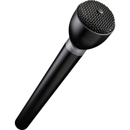 Electro-Voice 635L/B - Omnidirectional Handheld Dynamic ENG Microphone with Long Handle (Black)