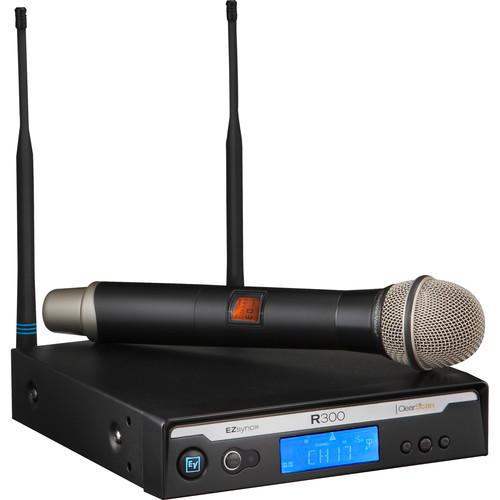 Electro-Voice R300-HD Handheld Wireless Microphone System (Band C: 516 to 532 MHz)
