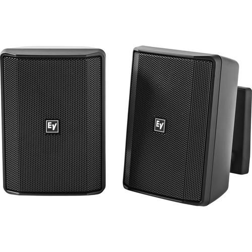 "Electro-Voice EVID-S4.2T 4"" 2-Way 70/100V Commercial Loudspeaker (Pair, Black)"