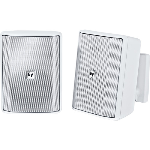 "Electro-Voice EVID-S4.2T 4"" 2-Way 70/100V Commercial Loudspeaker (Pair, White)"