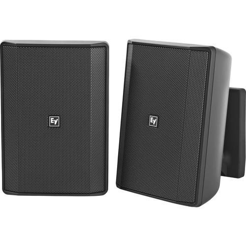 "Electro-Voice EVID-S5.2T 5.25"" 2-Way 70/100V Commercial Loudspeaker (Pair, Black)"