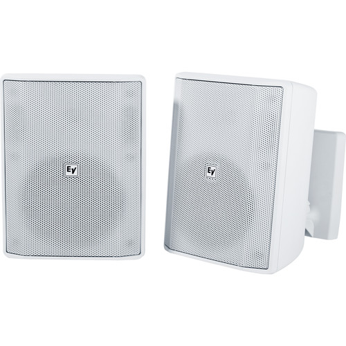 """Electro-Voice EVID-S5.2T 5.25"""" 2-Way 70/100V Commercial Loudspeaker (Pair, White)"""