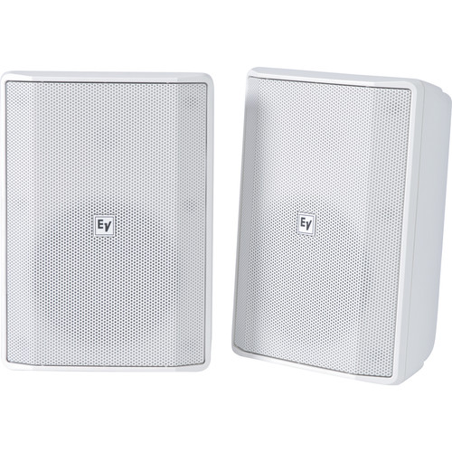 """Electro-Voice EVID-S5.2X 5.25"""" 2-Way 70/100V IP65-Rated Commercial Loudspeaker (Pair, White)"""