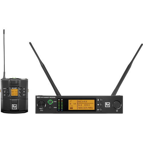 Electro-Voice RE3-BPNID Bodypack Wireless System with No Input Device (5H: 560 to 596 MHz)