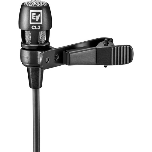 Electro-Voice RE3-ACC-CL3 Cardioid Lavalier Microphone with TA4F Connector