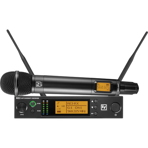 Electro-Voice RE3-ND76 Wireless Handheld Microphone System with ND76 Wireless Mic (6M: 653 to 663 MHz)