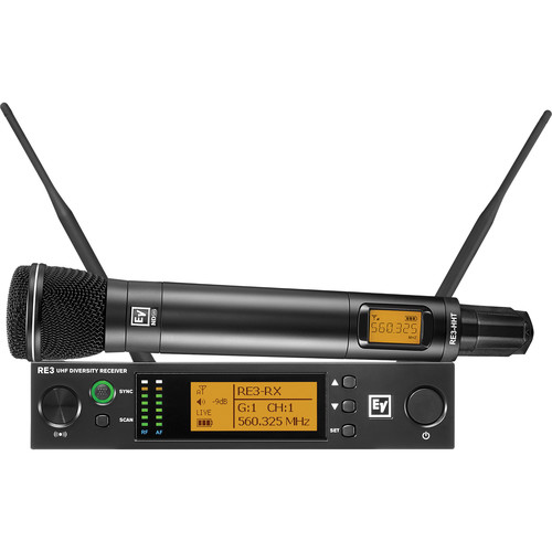 Electro-Voice RE3-ND96 Wireless Handheld Microphone System with ND96 Wireless Mic (6M: 653 to 663 MHz)