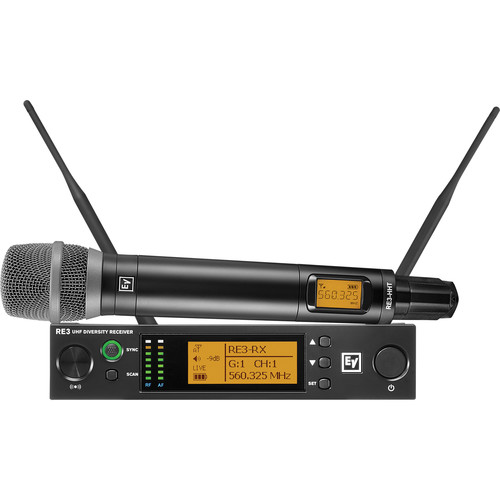 Electro-Voice RE3-RE520 Wireless Handheld Microphone System with RE520 Wireless Mic (6M: 653 to 663 MHz)