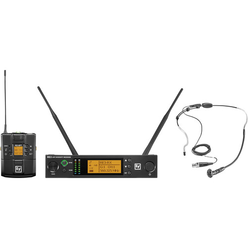 Electro-Voice RE3-BPHW Bodypack Wireless System with Headworn Mic (5H: 560 to 596 MHz)