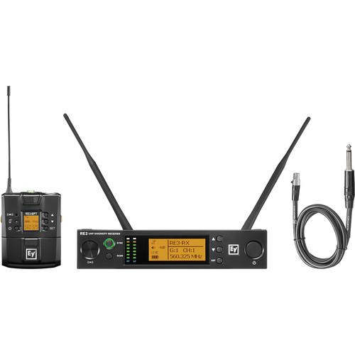 Electro-Voice RE3-BPGC Bodypack Instrument Wireless System (6M: 653 to 663 MHz)