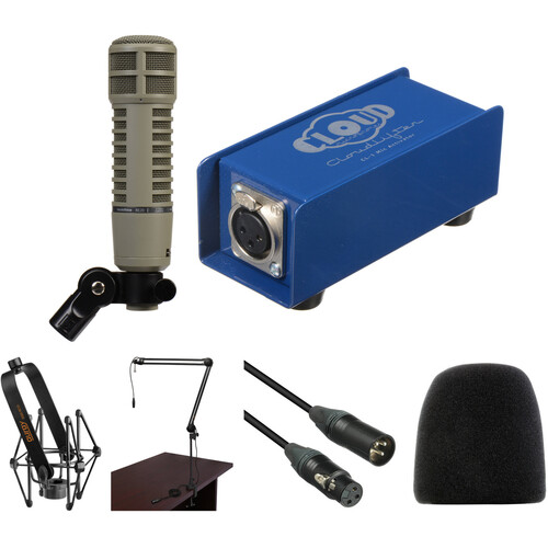 Electro-Voice RE20 Broadcast Announcer Mic with Cloudlifter CL-1 Activator Kit
