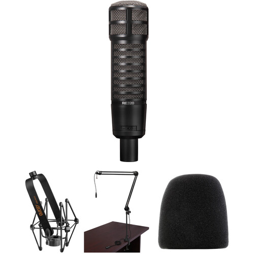 Electro-Voice RE320 Broadcast Announcer Microphone Kit