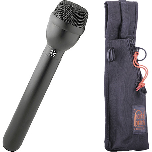 Electro-Voice RE50/B Omnidirectional Dynamic ENG Mic with Holster Kit