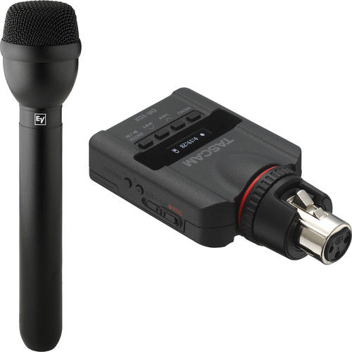 Electro-Voice RE50B Omnidirectional Microphone and Tascam DR-10X Recorder Kit