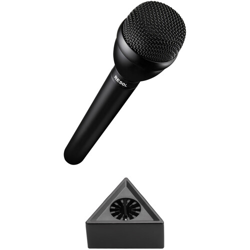 Electro-Voice RE50L Omnidirectional Broadcast Microphone with Mic Flag Kit (Black)