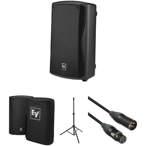 Electro-Voice ZXA1 Compact Powered Loudspeaker Kit with Cover, Stand & Cable