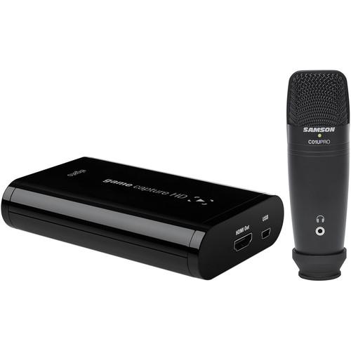 Elgato Systems Game Capture HD with Samson Studio Microphone Kit