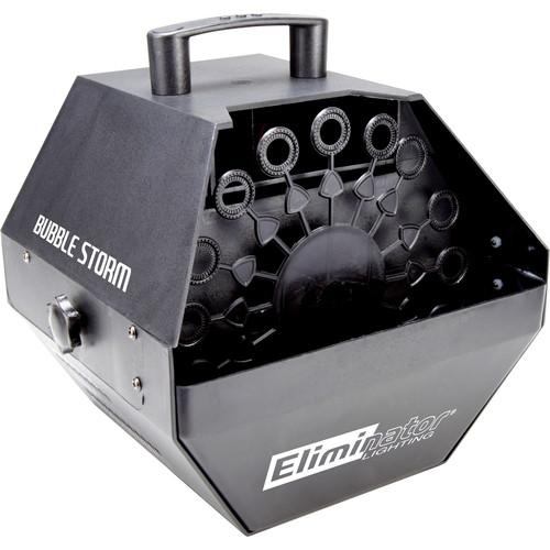 Eliminator Lighting Bubble Storm Bubble Effects Machine (Black)