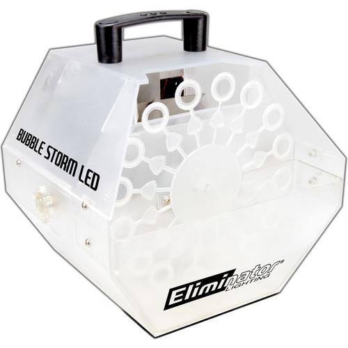 Eliminator Lighting Bubble Storm LED Bubble Effects Machine (White)