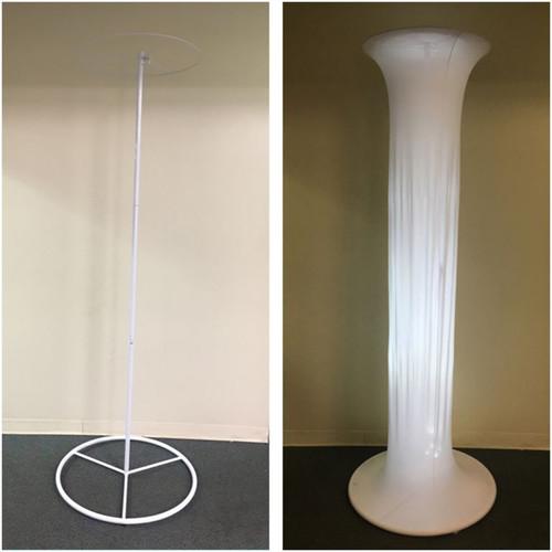 Eliminator Lighting Decor 10C Round Tower with White Scrim (10')