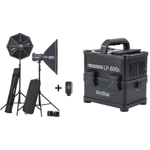 Elinchrom BRX 500/500 Two-Light Softbox Kit with Power Inverter
