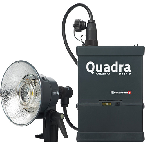 Elinchrom Ranger Quadra Hybrid RX Lead-Gel Battery 1-Light Standard A Kit