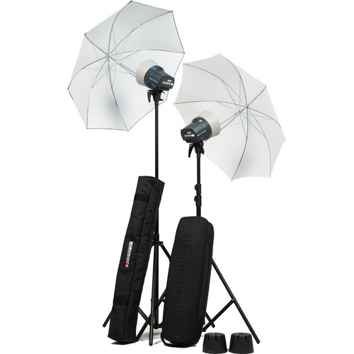 Elinchrom D-Lite RX ONE 2x Head Umbrella To Go Kit