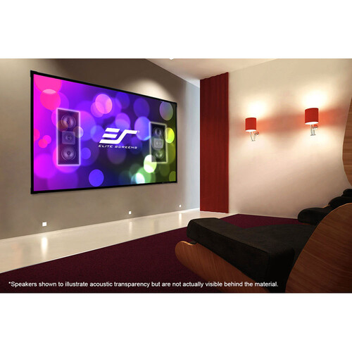 Elite Screens Sleek Edge Free Fixed Frame Projection/Projector Screen, Acousticpro Uhd Sound Transparent Material