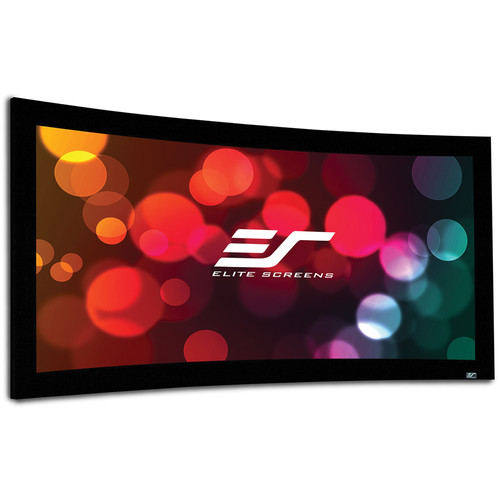 "Elite Screens CURVE180WH2 Lunette 2 88.3 x 156.9"" Fixed Frame Projection Screen"