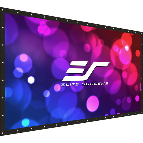 Elite Screens Diy Pro Rear Series, 123-Inch 169, Front/Rear Projection Do-It-Yourself Indoor  Outdoo