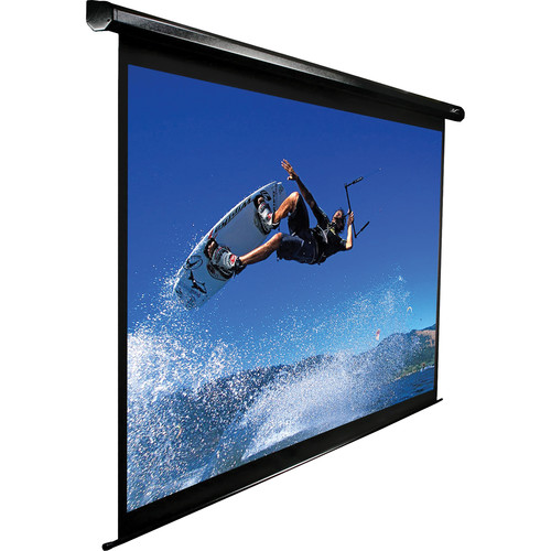 "Elite Screens Spectrum Series 142"" Electric/Motorized Front Projection Screen (Black)"