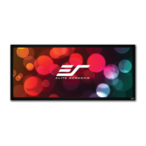 "Elite Screens ER138WH1W-A1080P3 SableFrame 54 x 127"" Fixed Frame Projection Screen"