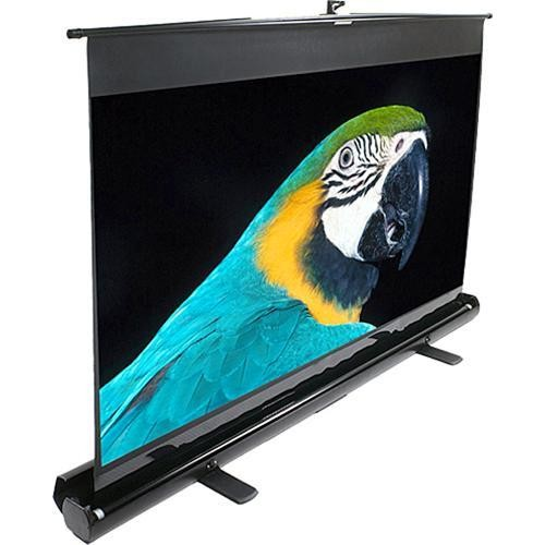 """Elite Screens ezCinema Series F56NWX 56"""" Telescoping Pull-Up Front Projector Screen with Floor Stand"""