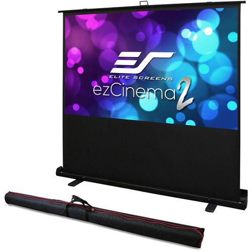 "Elite Screens Portable/ Ez Cinema 2 70""/16:9 -  MaxWhite 2/ Black Case/ With Bag"