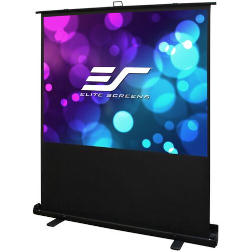 "Elite Screens 84"" Floor Pull Up Screen 43 Format"