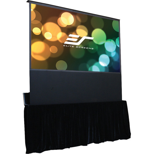 "Elite Screens Kestrel Stage Series 110"" Electric Floor Rising Projection Screen with Travel Case"