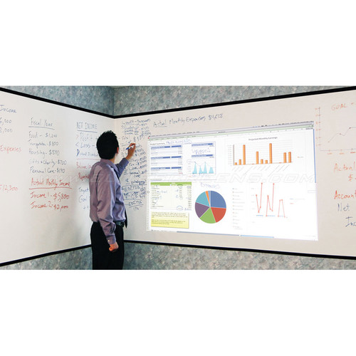 "Elite Screens Insta-DE2 Whiteboard Pliable Adhesive Wall Mount Projection Screen (60.2 x 480.0"")"