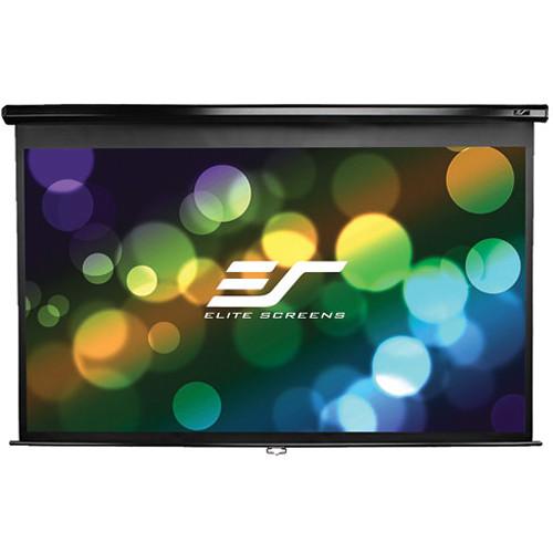 "Elite Screens 128"" Manual Series Projector Screen (Black Casing)"