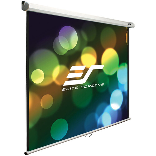 """Elite Screens Manual B/  80""""/16:9 Pull Down Manual Projector Screen With Auto Lock, Movie Home Theater"""