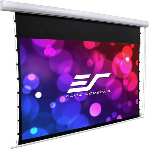 Elite Screens Manual Tab-Tension, 120-Inch Diag. 43, Bead Chain Clutch Mechanism Wall / Ceiling Proj