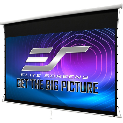 "Elite Screens Manual Tab-Tension 2 125""/16:9 - Cine White"