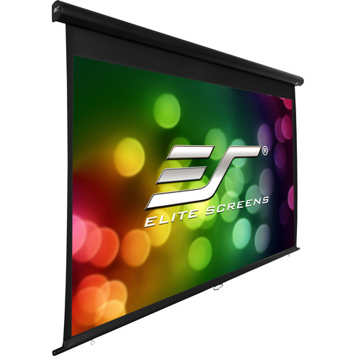 "Elite Screens 100"" Outdoor Movie Manual Projector Screen (Black)"