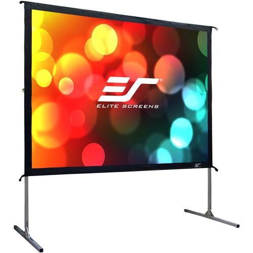 "Elite Screens 100"" Portable Outdoor/Indoor Movie Theater Projector Screen (Silver)"