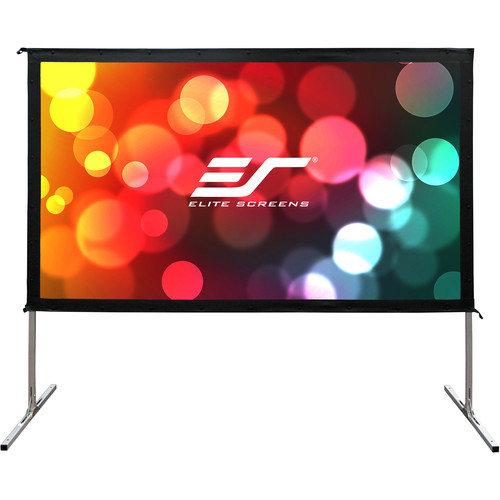 """Elite Screens 135"""" Portable Outdoor/Indoor Movie Theater Front and Rear Projector Screen (Silver)"""