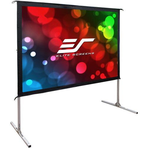 "Elite Screens 135"" Portable Outdoor/Indoor Movie Theater Projector Screen (Silver)"