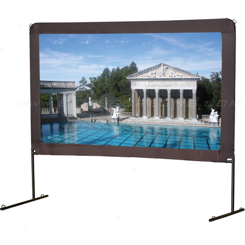 "Elite Screens OMS150H 73.6 x 130.7"" Yard Master Series 1 Outdoor Fast-Fold Screen"