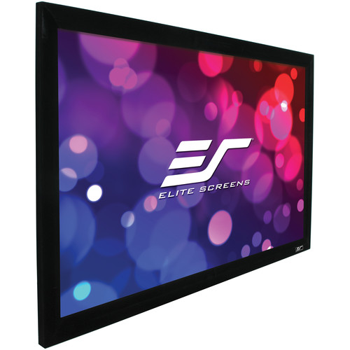 "Elite Screens R100H2 ezFrame 2 48.8 x 87"" Fixed Frame Projection Screen"