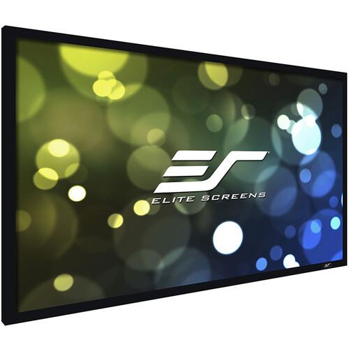 "Elite Screens Ezframe Plus B 390""/16:9 Fixed Frame Home Theater Projection Screen (Cinewhite)"
