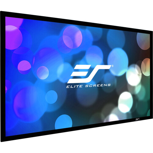 "Elite Screens Fixed Frame/ Sable Frame B2 135""/16:9 - CineWhite/ Black Case"